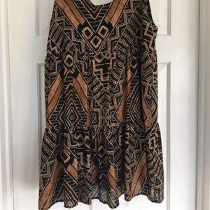 Flowy Boho Pattern Dress